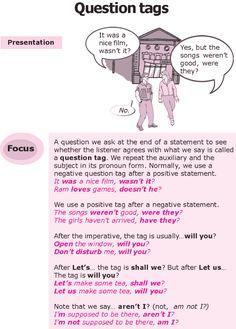 Grade 8 Grammar Lesson 20 Question tags