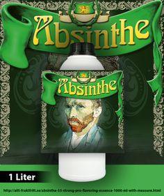 Riktig Absint med hela 55 mg tujon per flaska. Opaliserar. Räcker till 50 flaskor om 75 cl vardera.