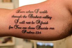 Psalm Script at the Illustrator Tattoo in Dallas Ga.