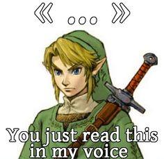 Link's Voice spot on!
