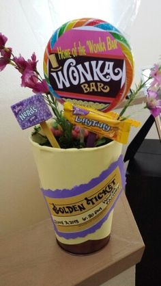 Centerpieces for Willy wonka cast party
