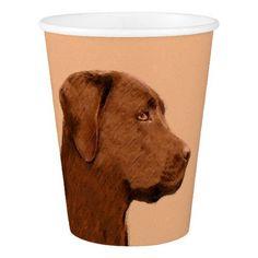 #Labrador Retriever (Chocolate) Paper Cup - #labrador #retriever #puppy #labradors #dog #dogs #pet #pets