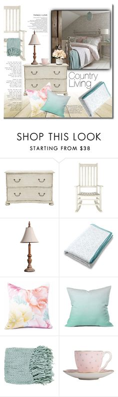"""Country Living"" by mslewis6 ❤ liked on Polyvore featuring interior, interiors, interior design, home, home decor, interior decorating, Safavieh, DENY Designs, Surya and Wedgwood"