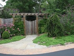Gate Pergola Gates and Fencing Sitescapes Landscape Design Stony Brook, NY