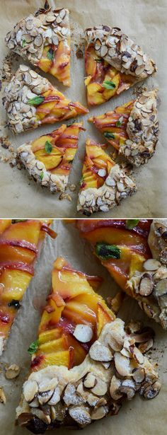Peach Galette with Toasted Almond Crust I howsweeteats.com