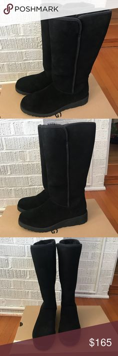 40cd371b5ac UGG Kara suede tall black boots size 9 Gorgeous brand new in box never worn  Ugg
