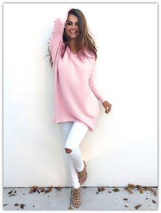 2016 Otoño Invierno Suéter de Las Mujeres Jerseys de Punto Casual Suéteres De Cachemira Con Cuello En V Suéter Flojo de Manga Larga Jumpers