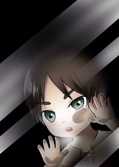 Eren Jaeger - Chibi  | Attack on Titan  (Shingeki no Kyojin) | Anime #anime trapped behind glass