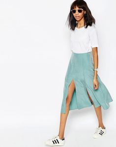 A seafoam skirt that'll float in the ocean breeze. | 29 Awesome Things To Buy On ASOS This Month