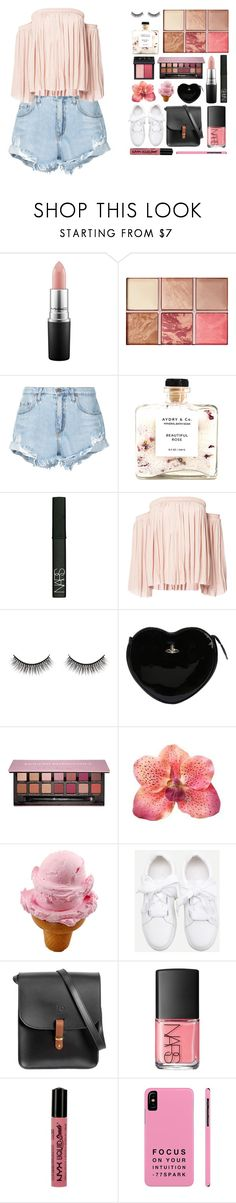 """""""●babygirl I cant lie you got my heart locked up in your locker♡"""" by thaniahjcat ❤ liked on Polyvore featuring MAC Cosmetics, Hourglass Cosmetics, Nobody Denim, NARS Cosmetics, Elizabeth and James, Battington, Vivienne Westwood, Anastasia Beverly Hills, N'Damus and NYX"""
