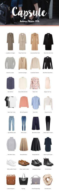#Capsule Wardrobe for Chic, Classic & #Minimal Autumn/Winter 2016 via @brigitadaisy