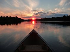 Lake Naomi sunset...by canoe - The Great Outdoors - Cabin Life - Cabin Life Community