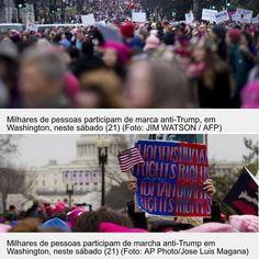 Estou acompanhando há semanas os preparativos da @womensmarch e hoje minhas redes sociais mostraram amigas e a mídia cobrindo ao vivo a Marcha das Mulheres. Milhares de mulheres se reuniram em Washington e em outras cidades dos Estados Unidos neste sábado para protestar contra Donald Trump que tomou posse na sexta-feira 20/01. A 'Marcha das Mulheres' esperava reunir 200 mil pessoas em Washington e avançar dois quilômetros pelo National Mall. Este protesto também acontece em diversas partes…