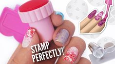 Stamp Your Nails Perfectly!  | DIY, Hacks, Tips & Tricks For Nail Art Stamping! - YouTube