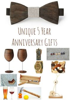 The Five Year Anniversary Gift Is Traditionally Wood Here Are Some Fun And Unique Ideas