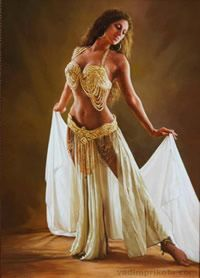 Belly Dancer Art - Grace by Vadim Prikota Tribal Costume, Belly Dancers, Art Pages, Art For Sale, Ukraine, Fine Art America, Costumes, Womens Fashion, Painting