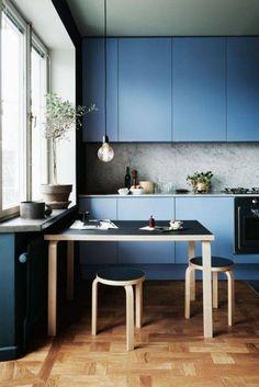 modern kitchen design ideas blue ktichen