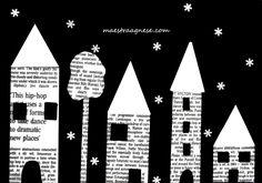 Lavoretti per l'inverno Winter Art Projects, Winter Crafts For Kids, Diy For Kids, Winter Activities, Activities For Kids, Auction Projects, Newspaper Crafts, Kindergarten Art, Elementary Art