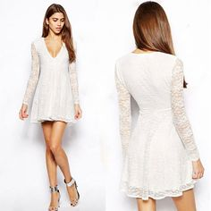 Long Sleeves Lace Women Dress