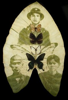 Binh Danh invented the chlorophyll printing process in which photographic images appear embedded in leaves through photosynthesis Multiple Exposure, Great Photographers, Texture Art, Art Plastique, Altered Art, Printing Process, Printmaking, Photo Art, Natural
