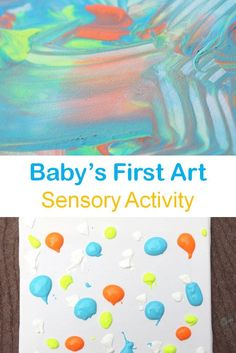 Fun sensory activity with paint and a canvas to make some art with your baby Crafts For Kids, Arts And Crafts, First Art, Creating A Blog, Sensory Activities, Natural Wonders, Getting Old, Wonders Of The World, Stuff To Do