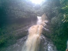 convergencia de dos cascadas de origen diferente