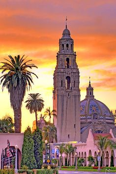Balboa Park, San Diego, California. My parents have and ink print of this scene. I remember looking at the details in the architecture