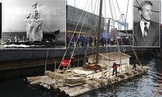 The Kon-Tiki sails again! Raft is recreated 70 years after voyage