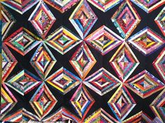Candis the pattern is called: Diamonds are forever and it is in the String Quilt Revival book by Virginia Baker and Barbara Sanders. Description from quiltersclubofamerica.com. I searched for this on bing.com/images