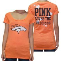 Womens NFL Denver Broncos T Shirt by Pink Victorias Secret