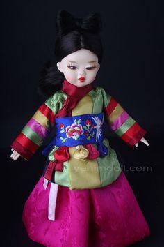 korea bjd doll  yenimdoll 예님돌  doll name is danyi yenimdoll's usd doll (26cm)  korea traditional dress hanbok 오방장두루마기와 돌띠  http://www.yenimdoll.com