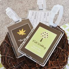 Personalized Fall Acrylic Luggage Tag Wedding Favors