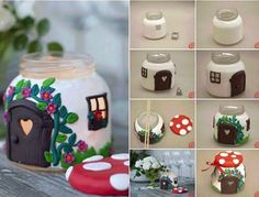 fun gift idea! decorated Fairy/ Gnome candle jars! http://www.amazinginteriordesign.com/time-craft-pretty-mushroom-house-candle-made-jar/ <- Tutorial great for Gift for Mother's day or Weddings or Birthday Gift If you Rather buy one than make it , Artist Elegantly Haunted sells them in a bunch of colors and styles FB https://www.facebook.com/ElegantlyHaunted <- tell her we sent you