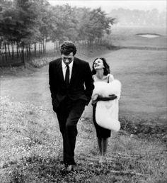 Marcello Mastroiani & Jeanne Moreau 1961