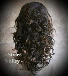 Medium Brown Mix Fall Hairpiece Half Wig Curly Long Layered Hair piece for Like the Medium Brown Mix Fall Hairpiece Half Wig Curly Long Layered Hair piece? Curly Hair Pieces, Curly Hair Cuts, Long Curly Hair, Curly Hair Styles, Natural Hair Styles, Short Hair, Updo Styles, Curly Girl, Long Curly Layers