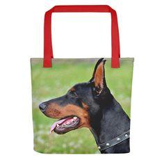 Sharp Black Doberman Pinscher Tote Bag