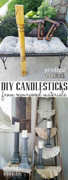 Create these DIY candlesticks using repurposed materials and this tutorial by Prodigal Pieces   prodigalpieces.com