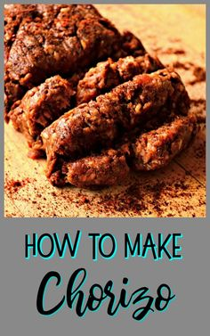 Chorizo - How to Make It and Eat It! - This Is How I Cook - Chorizo is so easy to make and can be made with your favorite ground meat. Spices can also be adjus - Pork Chorizo Recipe, Homemade Chorizo, Pork Sausage Recipes, Homemade Sausage Recipes, Meat Recipes, Mexican Food Recipes, Cooking Recipes, Cooking Tips, Pan Dulce