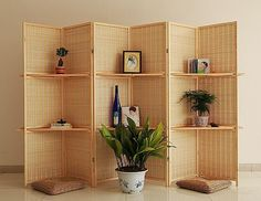 Bamboo weaving high-grade environmental protection solid wood screen partition bedroom porch screen folding screen