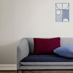 Outline Wall - Rectangle - Blue