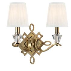 View the Hudson Valley Lighting 8182 Fowler 2 Light Wall Sconce at LightingDirect.com.