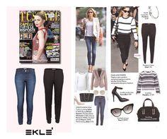 """Eklè fa parte delle tendenze VIP più glamour di stagione: jeans JENNIFER per un look fresco e """"stretch bon ton"""" ispirato alla frizzante top model tedesca Heidi Klum e i pantaloni CAROTA per uno stile sporty, ma raffinato, come quello della trend setter Emma Watson. #ekle #LatestTrend"""