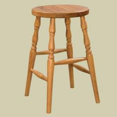 Heritage Colonial Round Seat Dining Stool