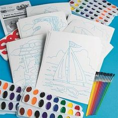 Watercolor By Number Craft Kits For Art Party Makes 12