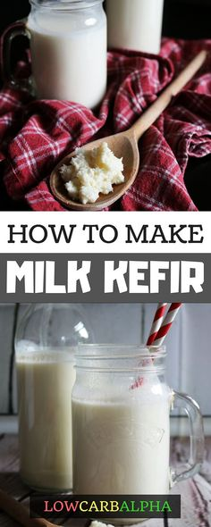 How to make Milk Kefir, Gluten-Free Low Carb Beverage + Fermenting benefits recipes recipes how to make smoothie smoothie recipes Keto Friendly Desserts, Low Carb Desserts, Low Carb Recipes, Healthy Recipes, Sin Gluten, Kefir How To Make, Kefir Recipes, Fermented Foods, Probiotic Foods
