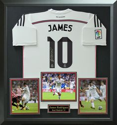 e65961620c3 James Rodriguez Signed Real Madrid Jersey Display.