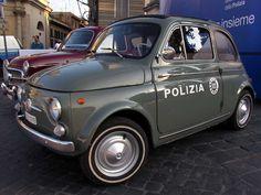 Fiat 500, Polizia di Stato, Piazza del Popolo, Rome