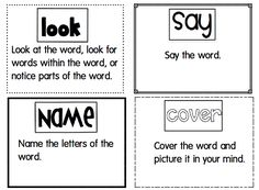 I created this chart to give students another strategy to use when spelling words. We have been using HAVE A GO, and now we learned LOOK S...