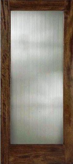 Reeded glass interior doors