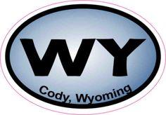 Blue Oval Cody Wyoming sticker